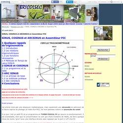 SINUS, COSINUS et ARCSINUS en Assembleur PIC