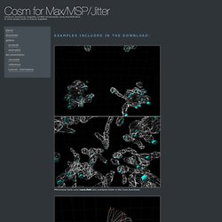 Cosm for Max/MSP/Jitter