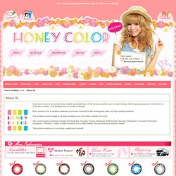About Us Color Contact Lens - Circle Contact Lens - Cosmetic Contact Lens - Colored Contacts - HoneyColor.com