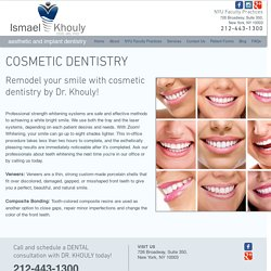 Cosmetic Dentist in NYC, Manhattan, Soho - Dr Ismael Khouly