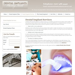 Find The Cosmetic Dental Implants Services In Harley Street London