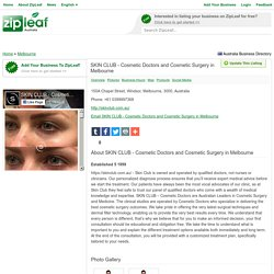 SKIN CLUB - Cosmetic Doctors and Cosmetic Surgery in Melbourne - Melbourne, Australia