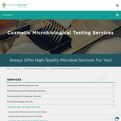 Cosmetic Microbiological Testing Services - Microbe