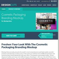 Cosmetic Packaging Branding MockUp - Design Cuts Design Cuts
