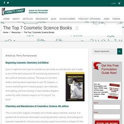 The Top 7 Cosmetic Science Books – Chemists Corner