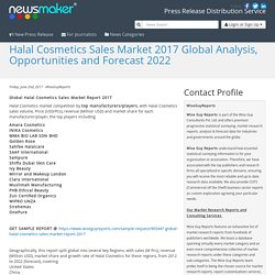 Halal Cosmetics Sales Market 2017 Global Analysis, Opportunities and Forecast 2022