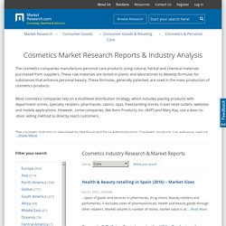 Cosmetics Market Research Reports & Cosmetics Industry Analysis