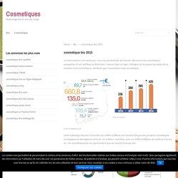 cosmetique bio 2015