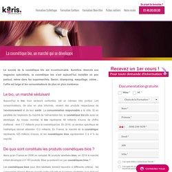 Cosmétique bio : un marché qui se développe - Karis Formation