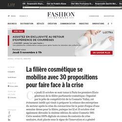 La filière cosmétique se mobilise avec 30 propositions pour faire face à la crise - Actualité : industrie (#1251908)