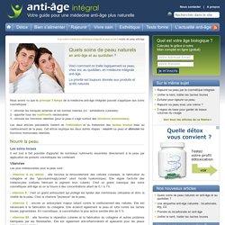 Cosmétique intégrale et soins quotidiens anti-âge naturels