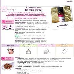 Fiche technique actif cosmétique Aroma-Zone : Bio-remodelant