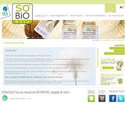 SO'BiO étic®, soins cosmétiques bio, soins hygiéne biologiques