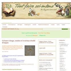 1 - COSMETIQUES Crèmes DERNIERS ARTICLES » Crèmes visage, mains et eczéma à huile d'argan