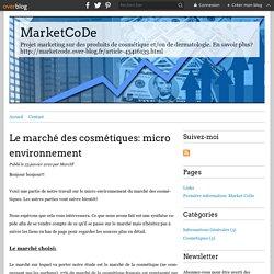 Le marché des cosmétiques: micro environnement - MarketCoDe