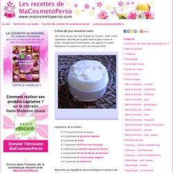 Recettes de cosmétiques maison avec MaCosmetoPerso