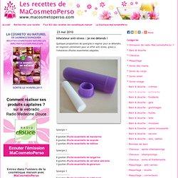 Recettes cosmétiques maison MaCosmetoPerso - Recette : Brumes d'oreiller et inhalateurs