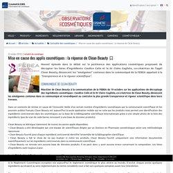 Mise en cause des applis cosmétiques: la réponse de Clean Beauty - L'Observatoire des Cosmétiques - L'actualité des cosmétiques - CosmeticOBS