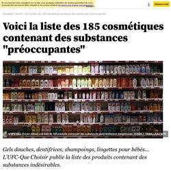 """Voici la liste des 185 cosmétiques contenant des substances """"préoccupantes"""""""