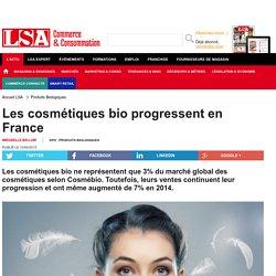 Les cosmétiques bio progressent en France - Produits Biologiques