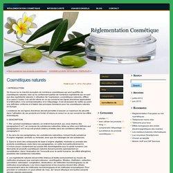 Réglementation Cosmétique