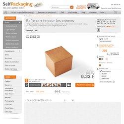 Boîte carrée pour les crèmes cosmétiques - SelfPackaging