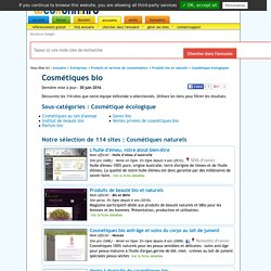 Cosmétiques bio : 120 sites sélectionnés