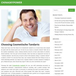 Choosing Cosmetische tandarts – chinaskypower
