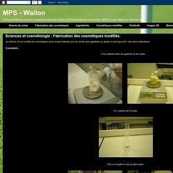 Sciences et cosmétologie : Fabrication des cosmétiques modifiés.