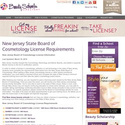 New Jersey Board of Cosmetology & NJ Cosmetology License Requirements