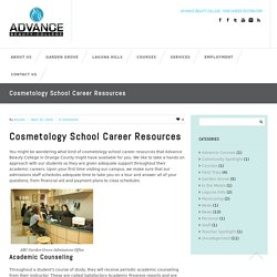 Cosmetology School Career Resources