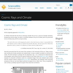 Cosmic Rays and Climate