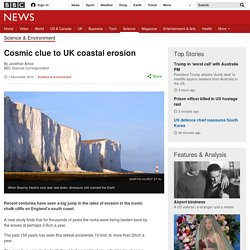 Cosmic clue to UK coastal erosion