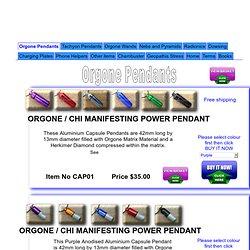 Orgone Pendants