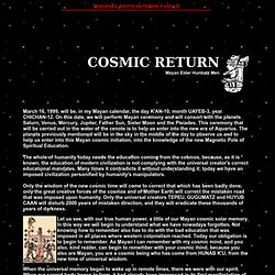 Cosmic Returne