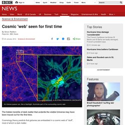 Cosmic 'web' seen for first time
