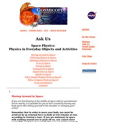 Cosmicopia -- Ask Us - Space Physics