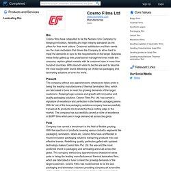 Cosmo Films Ltd