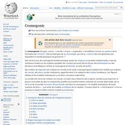 Cosmogonie