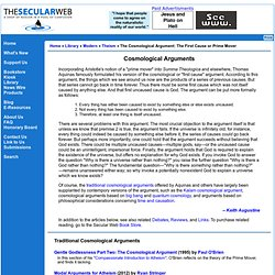 The Cosmological Argument: The First Cause or Prime Mover