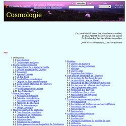 Cosmologie - cosmologie