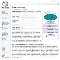 Brane cosmology
