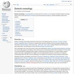 Esoteric cosmology