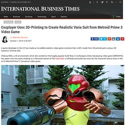 splayer Uses 3D-Printing to Create Realistic Varia Suit from Metroid Prime 3 Video Game