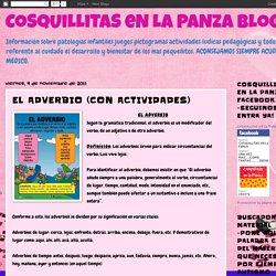 CoSqUiLLiTaS eN La PaNzA BLoGs: EL ADVERBIO (CON ACTIVIDADES)