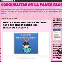 CoSqUiLLiTaS eN La PaNzA BLoGs: ENLACES PARA DESCARGAR MATERIAL PARA TEA (TRASTORNOS DEL ESPECTRO AUTISTA )