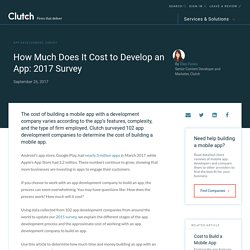 Cost to Build a Mobile App: A Survey