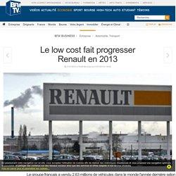 Le low cost fait progresser Renault en 2013
