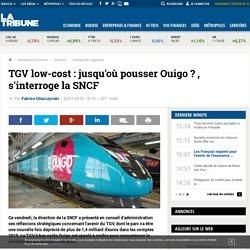 TGV low-cost : jusqu'où pousser Ouigo?, s'interroge la SNCF