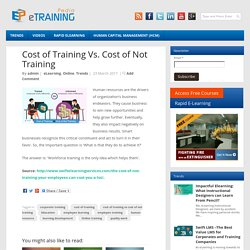 Cost of Training Vs. Cost of Not Training